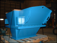 Hopper Discharge Blue
