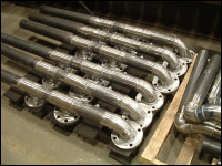 Pipe Weldment with heavy flanges
